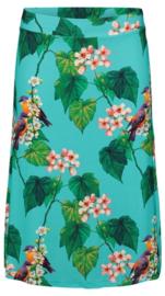 Tante Betsy Midi Skirt Botanical Bird Blue