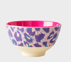 Rice Melamine bowl Leopard Paars