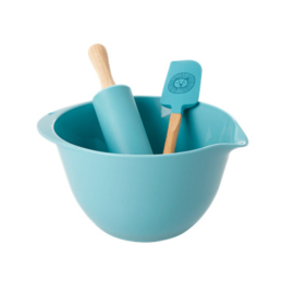 Rice Kids Baking Set Blue with Lion Head