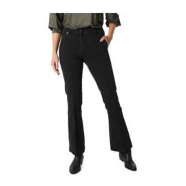 Zip73 Broek flair jeans zwart studs