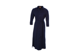 Mooi Vrolijk Dress Long Basic Dark Blue