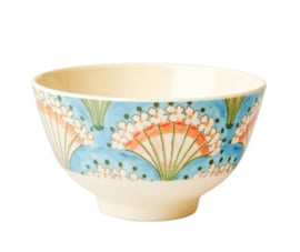 Rice Melamine Bowl Flower Fan print