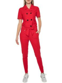 Zip73 Jumpsuit rood