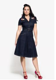 Queen Kerosin 50s jeans jurk