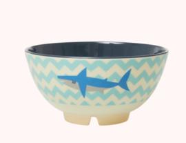 Rice Melamine Bowl Shark print