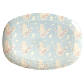 Rice Melamine Bord Feather print