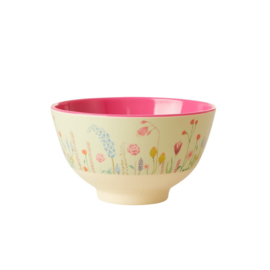 Rice Melamine Bowl Summer Flowers