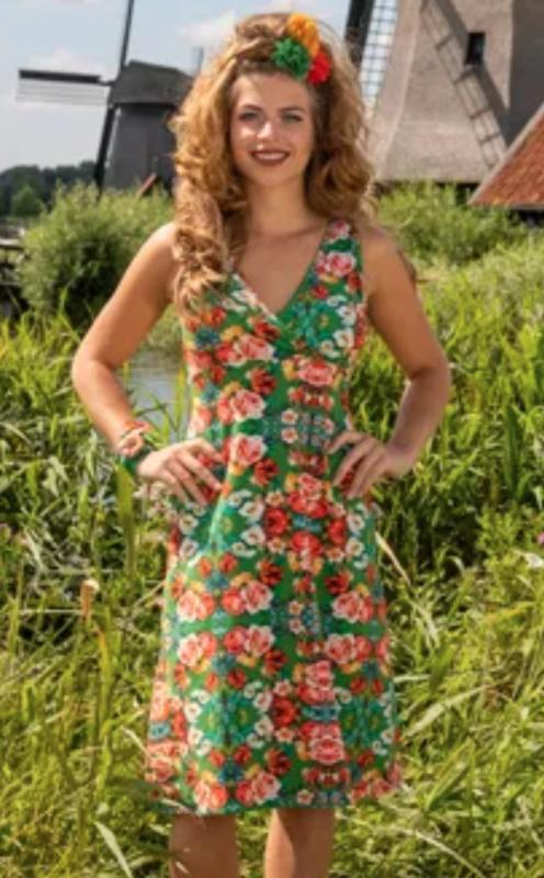 Lalamour Singlet Dress Rose Green