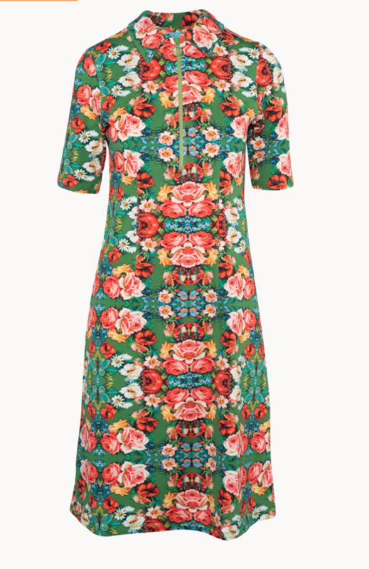 Lalamour Zipper  Dress Rose Green