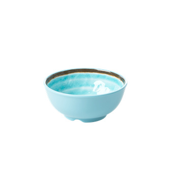 Rice Melamine bowl Aqua