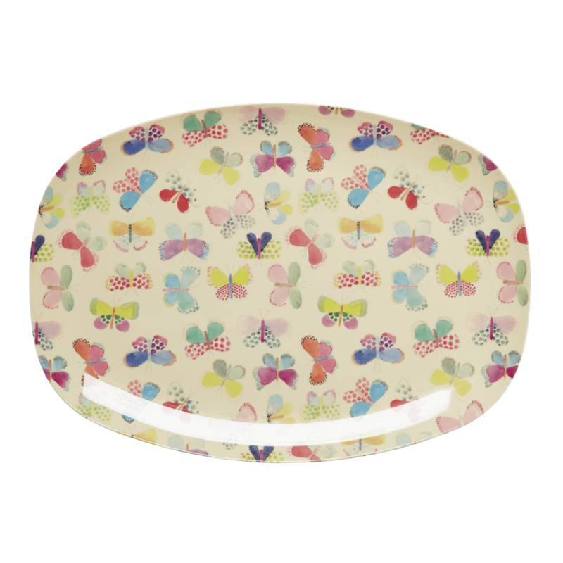 Rice Melamine Butterfly Plate