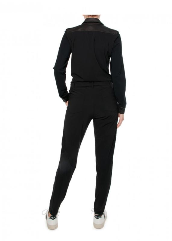 Zip73 Jumpsuit Zwart- Streep