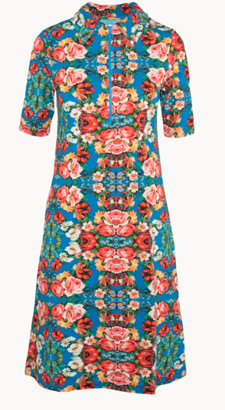 Lalamour Zipper  Dress Rose Blue