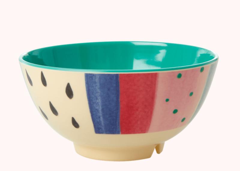 Rice Melamine Bowl Stripe