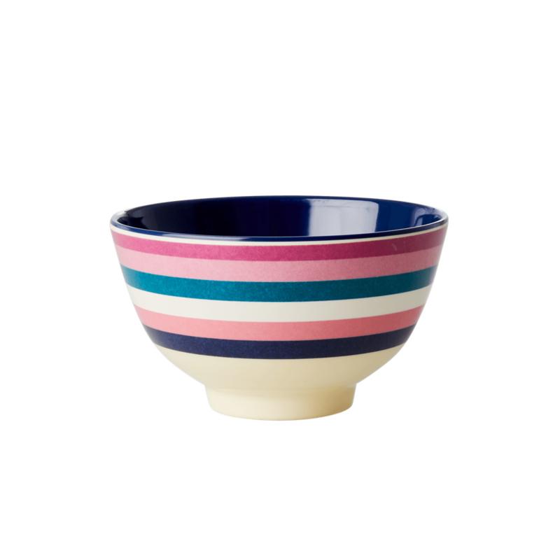 Rice Melamine Bowl Stripe print