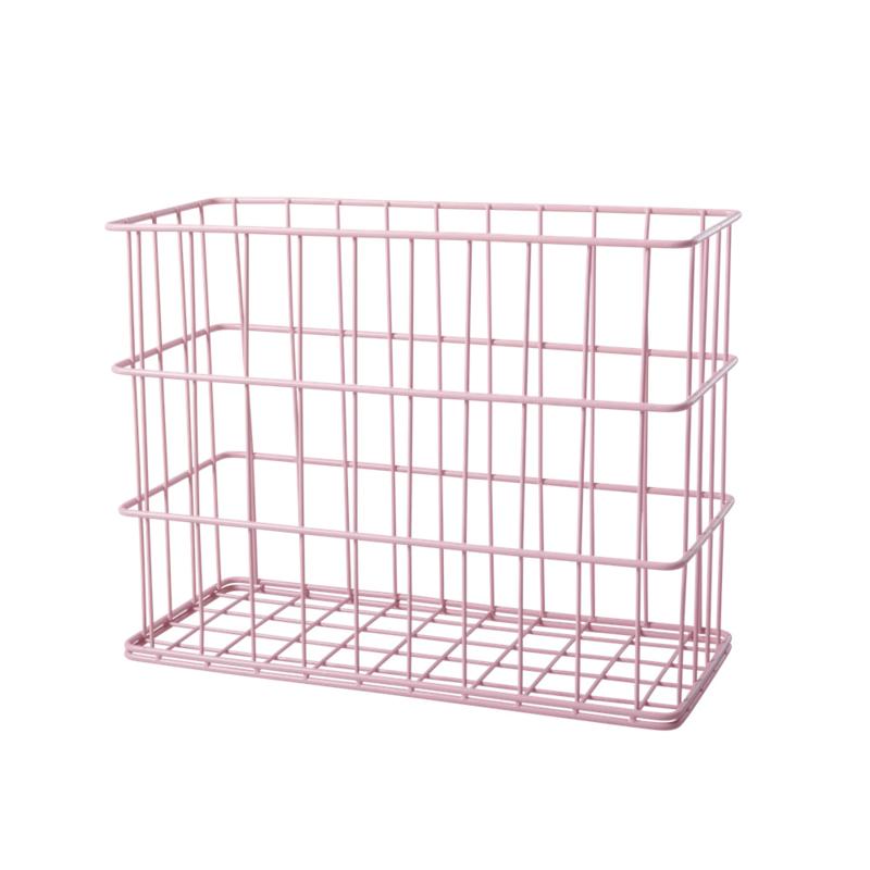 Rice Wire Basket Soft Pink