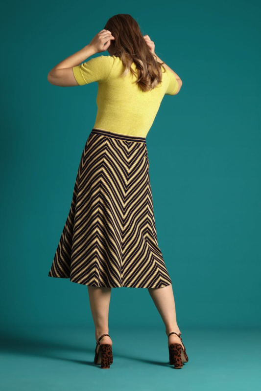 King Louie Juno Panel Skirt Gonzalez Stripe