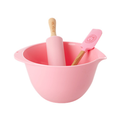 Rice Kids Baking Set Pink  with Lion Head
