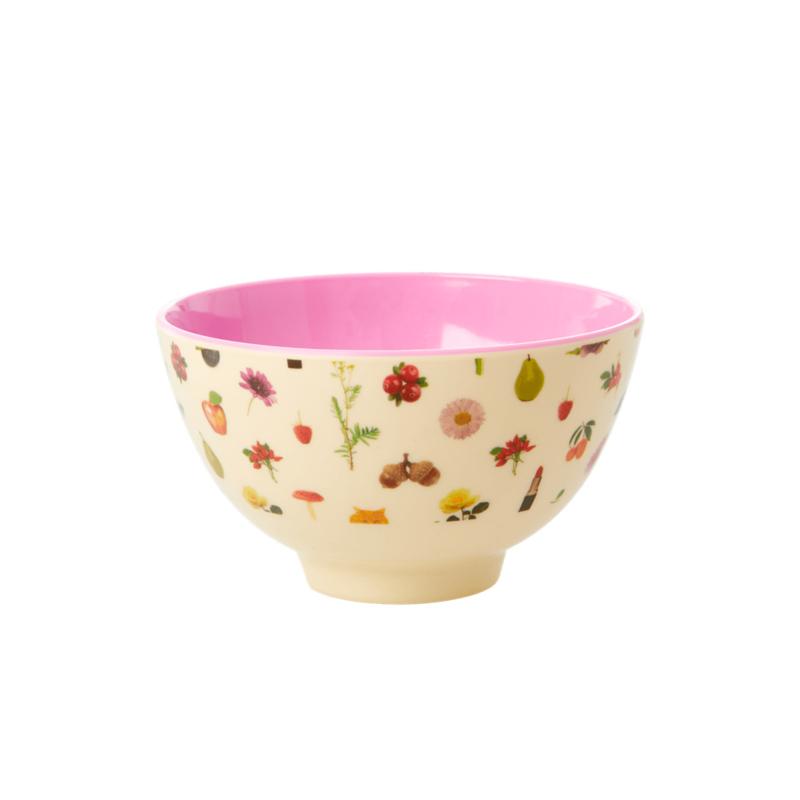 Rice Melamine Bowl Small Lipstick