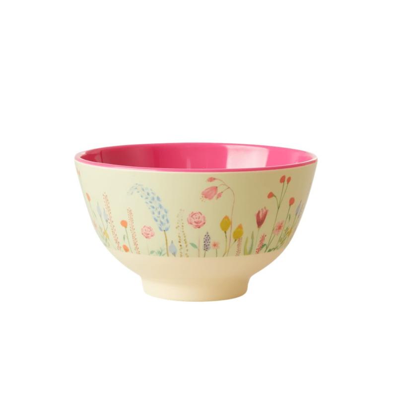 Rice Melamine Bowl Summer Flowers