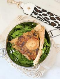 Quiche met gegrilde groenten en geitenkaas