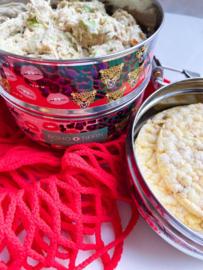Healthy tonijn- & avocadospread met maiswafels