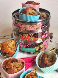 Monkey Muffins: Bananenbrood muffins met chocolate chip