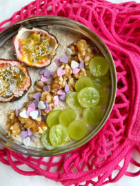 Overnight oats met passievrucht en kokos