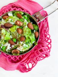 Rijst Salade met feta & amandelen