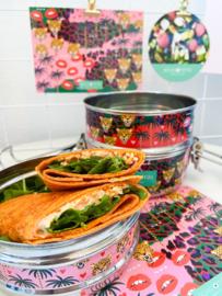 Paprika & chili tortillawraps met verse zalmsalade