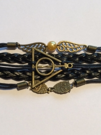 Harry Potter: armband Snaai, Deathly Hallows, Hedwig