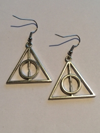 Harry Potter: oorbellen deathly hallows