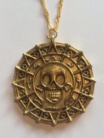 Pirates of the Caribbean: ketting amulet Azteeks goud