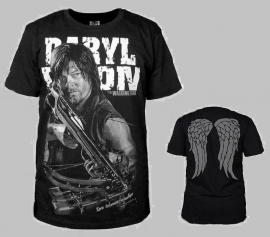 Walking Dead: t-shirt Daryl Dixon wings black