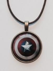 Captain America: ketting Schild dome