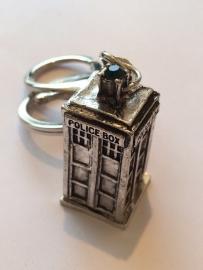 Doctor Who: sleutelhanger Tardis zilver