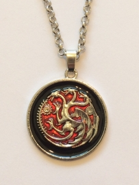 Game of Thrones: ketting Targaryen dragons red