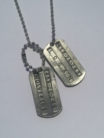 X-men: ketting dog tag Logan / Wolverine
