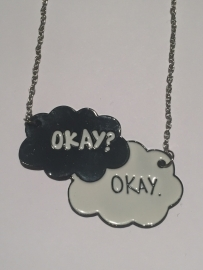 The fault in our Stars: ketting Okay Okay zwart/wit enkel
