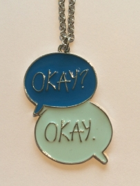 The fault in our Stars: ketting Okay Okay blauw enkel