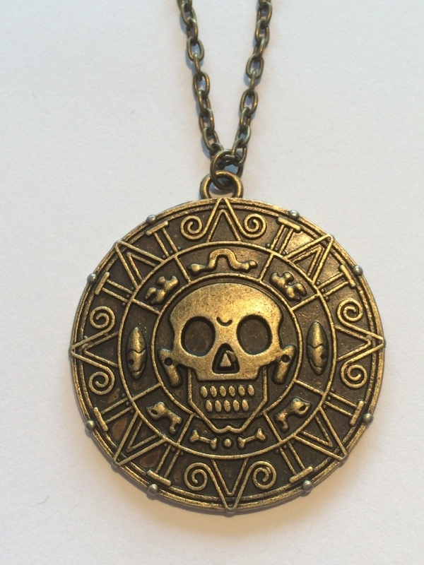 Pirates of the Caribbean: luxe ketting amulet Azteeks goud