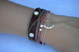 Set armbanden 'Ruby red'