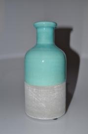 industrial vase aqua