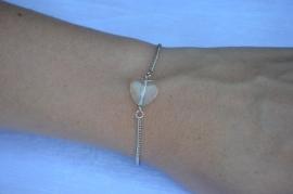 Armband 'heart' zilver
