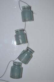 Tea lights garland Aqua