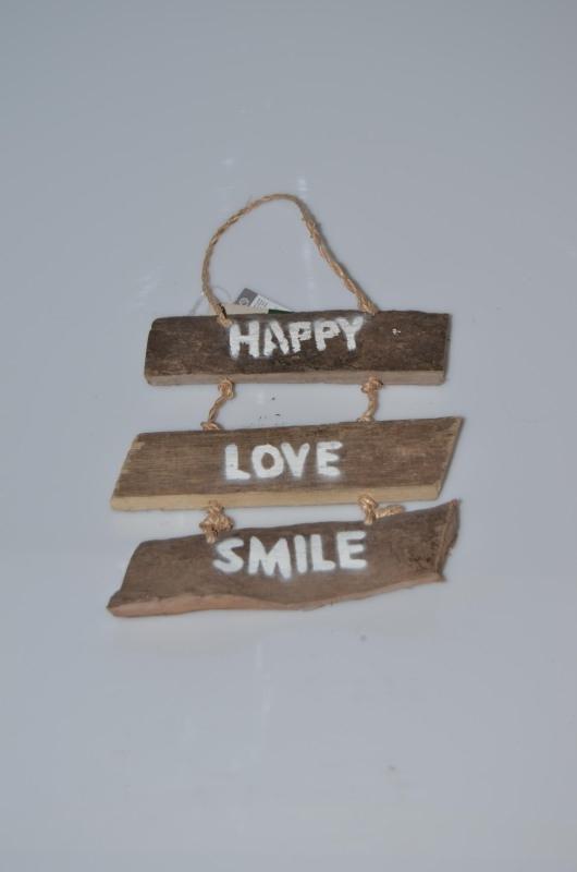 Driftwood 'Happy, Love, Smile'