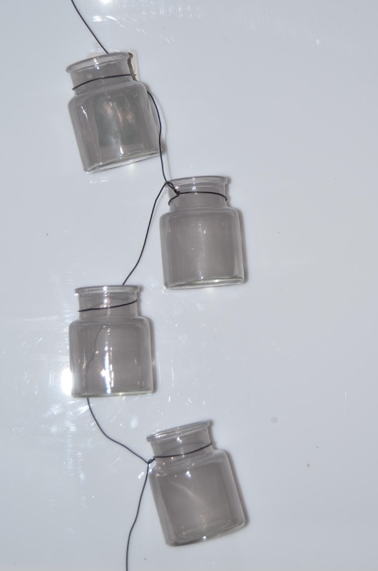 Tea lights garland Taupe