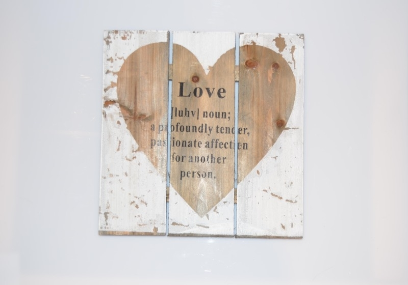 Love wanddecoratie
