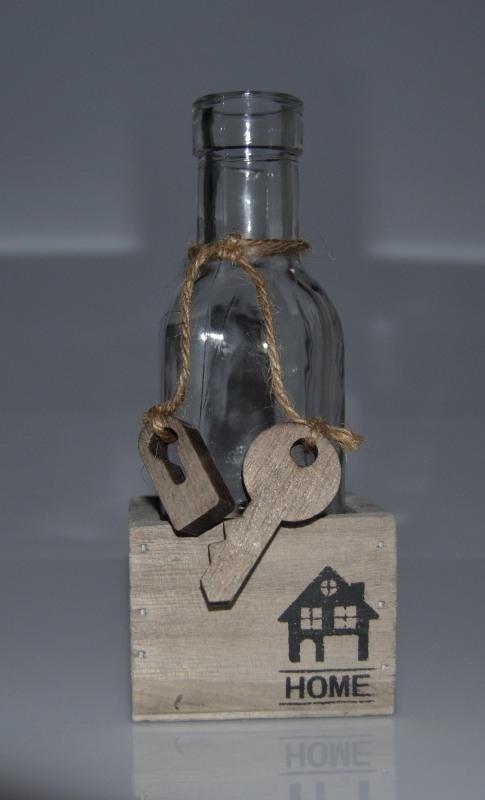 Fles met Sleutel in box