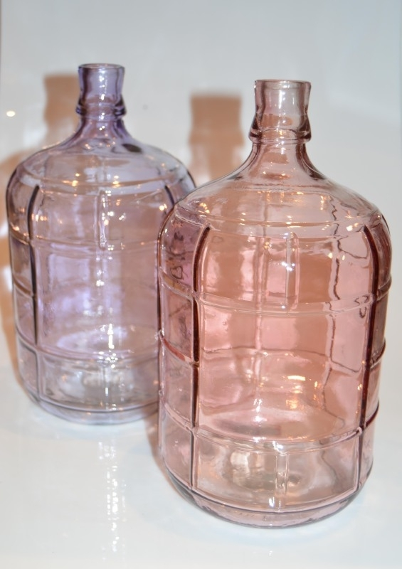Glazen flesvaas